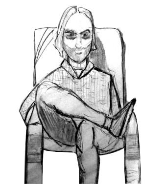 David Albiol Pedregal sentado en una silla